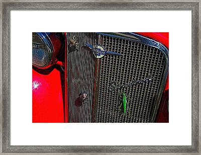1935 Chevrolet Grill Framed Print
