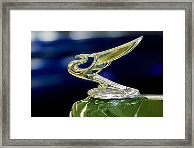 1935 Chevrolet Hood Ornament Framed Print by Jill Reger