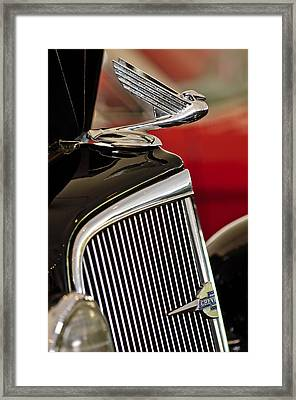 1935 Chevrolet Optional Eagle Hood Ornament Framed Print by Jill Reger