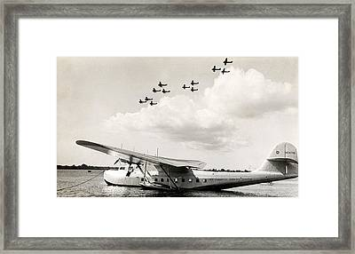 1935 China Clipper In Hawaii Framed Print by Historic Image