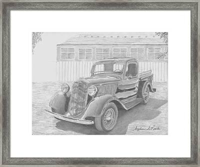 1935 Dodge Pickup Truck Art Print Framed Print by Stephen Rooks