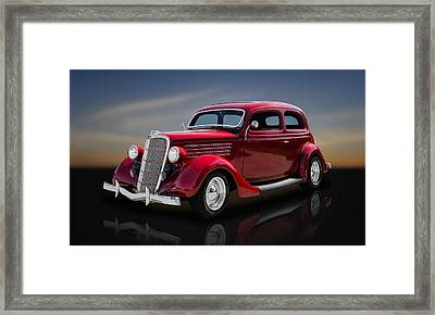 1935 Ford 2-door Sedan  -  35fdsdrflt22 Framed Print