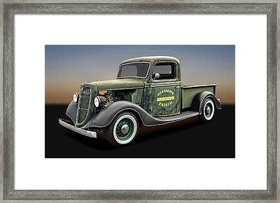 1935 Ford Pickup Truck  -  1935fordtruck9735 Framed Print by Frank J Benz