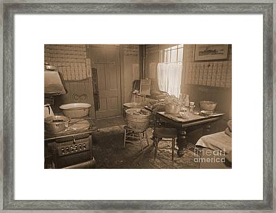 1935 Kitchen Framed Print by Padre Art