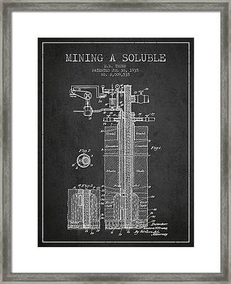1935 Mining A Soluble Patent En39_cg Framed Print