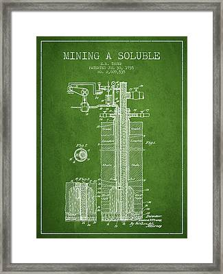 1935 Mining A Soluble Patent En39_pg Framed Print