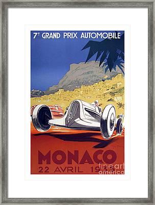 1935 Monaco Grand Prix Framed Print