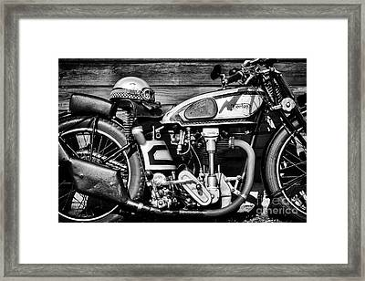 1935 Norton Model 30 Motorcycle Framed Print