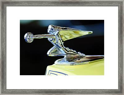 1935 Packard Hood Ornament Framed Print by Jill Reger