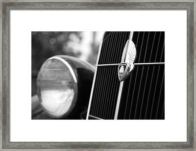 1935 Plymouth Emblem - Chrysler Motors Product Framed Print by Gordon Dean II