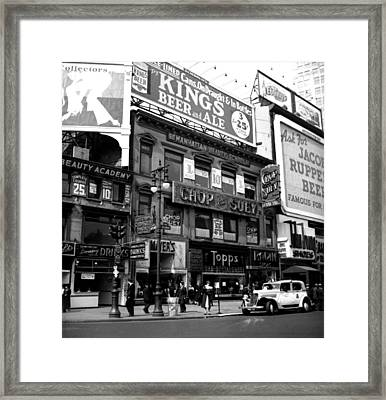 1935 Union Square Shops New York City Framed Print by Historic Image