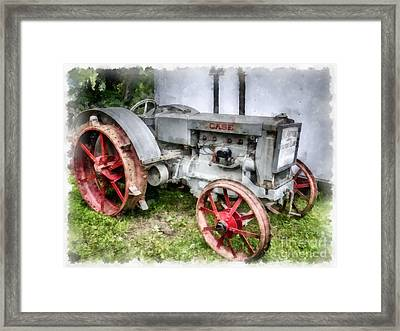 1935 Vintage Case Tractor Framed Print by Edward Fielding