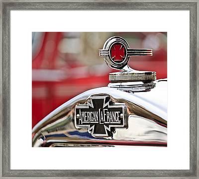 1936 American Lafrance Fire Truck Hood Ornament Framed Print by Jill Reger