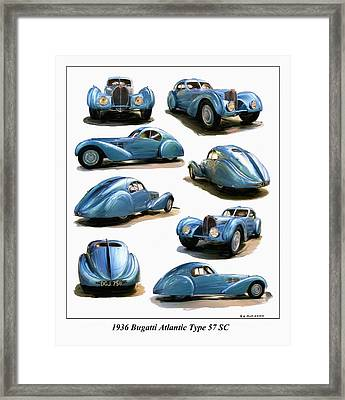 1936 Bugatti Atlantic Type 57 Sc Framed Print by RG McMahon