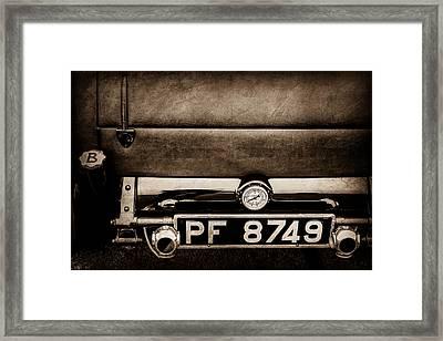 1936 Bugatti Type 57s Corsica Tourer License Plate -0067s Framed Print by Jill Reger