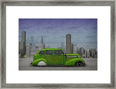 1936 Buick  Framed Print by Ken Morris
