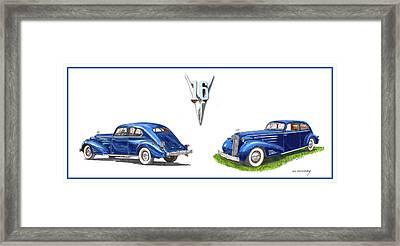 1936 Cadillac Aerodynamic Coupe Framed Print by Jack Pumphrey