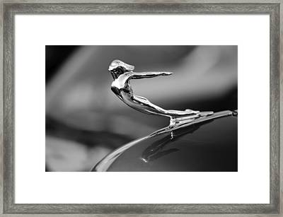 1936 Cadillac Hood Ornament 3 Framed Print