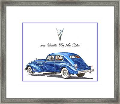 Framed Print featuring the painting 1936 Cadillac V-16 Aero Coupe by Jack Pumphrey