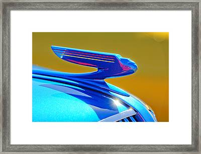 1936 Chevrolet Hood Ornament Framed Print by Jill Reger