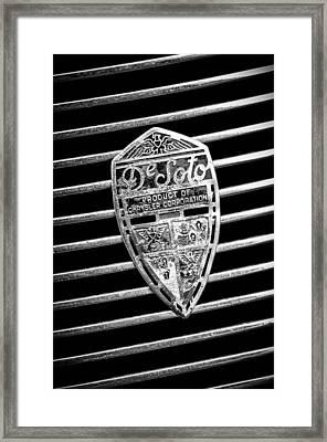 1936 Desoto Airstream Grille Emblem -1886bw Framed Print by Jill Reger