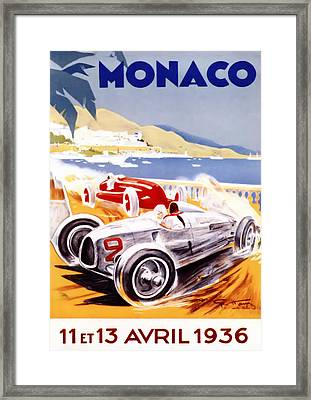1936 F1 Monaco Grand Prix  Framed Print