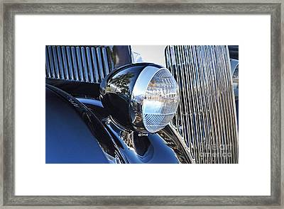 1936 Ford 2dr Sedan Framed Print by Gwyn Newcombe