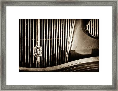 1936 Ford Phaeton Grille Emblem -0287s Framed Print by Jill Reger