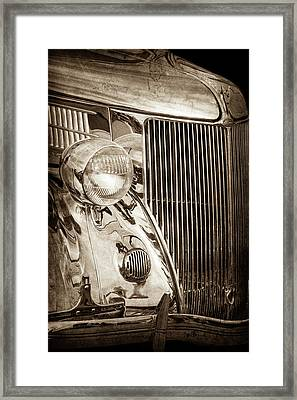 1936 Ford Stainless Steel Grille -0376s Framed Print by Jill Reger