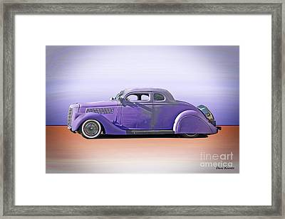 1936 Ford 'tail Dragger' Custom Coupe Framed Print by Dave Koontz