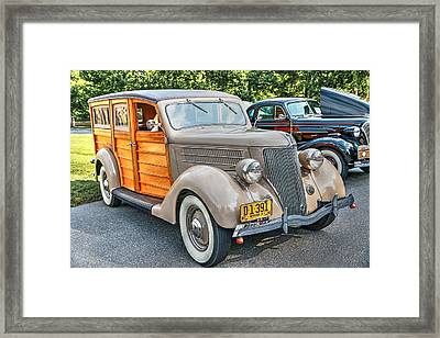 1936 Ford V8 Woody Station Wagon Framed Print
