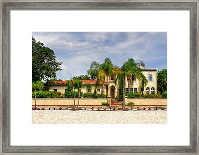 1936 Mediterranean Style Home - 61 Framed Print by Frank J Benz