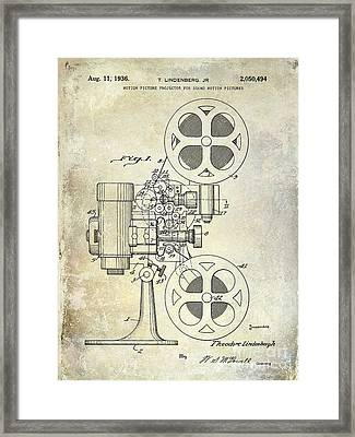 1936 Movie Projector Patent Framed Print