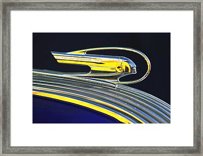 1936 Pontiac Hood Ornament Framed Print by Jill Reger