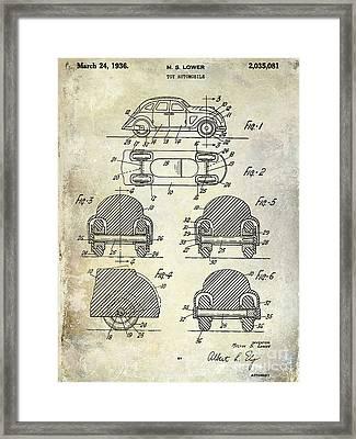 1936 Vw Toy Car Patent Framed Print by Jon Neidert