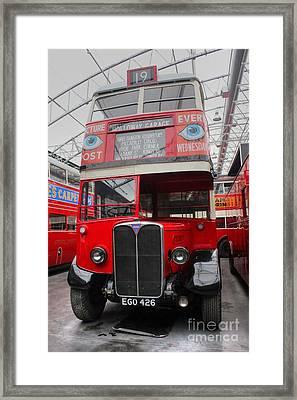 1937 Aec Regent I Bus Stl2377 Framed Print