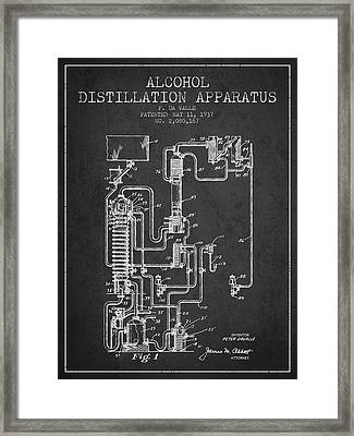 1937 Alcohol Distillation Apparatus Patent Fb79_cg Framed Print by Aged Pixel