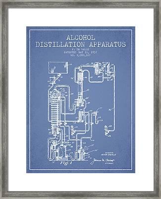 1937 Alcohol Distillation Apparatus Patent Fb79_lb Framed Print