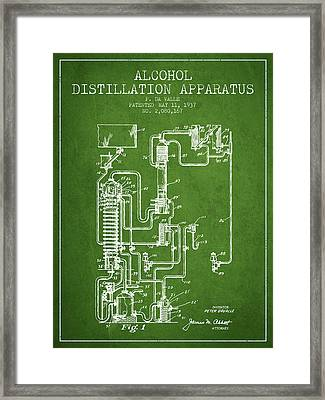 1937 Alcohol Distillation Apparatus Patent Fb79_pg Framed Print by Aged Pixel