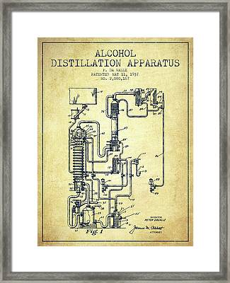 1937 Alcohol Distillation Apparatus Patent Fb79_vn Framed Print by Aged Pixel