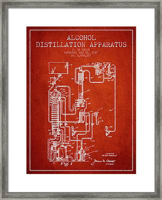 1937 Alcohol Distillation Apparatus Patent Fb79_vr Framed Print by Aged Pixel