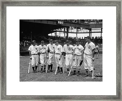 1937 All Star Baseball Players Framed Print