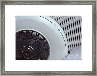 1937 Auburn Salon Cabriolet Side View Framed Print by Anna Lisa Yoder
