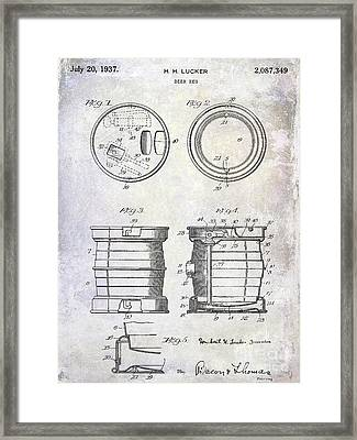 1937 Beer Keg Patent Framed Print