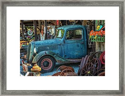 1937 Big Blue V8 Ford Pickup Truck Framed Print