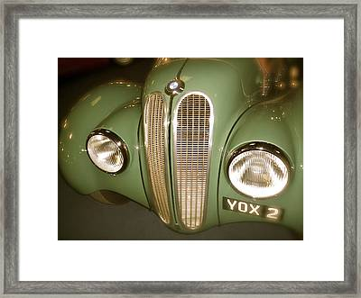 1937 Bmw 328 Front Detail Framed Print