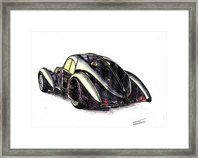 1937 Bugatti Type 57s Framed Print by Dan Poll