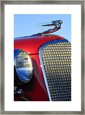 1937 Cadillac V8 Hood Ornament 2 Framed Print by Jill Reger