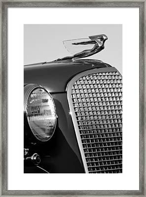 1937 Cadillac V8 Hood Ornament 3 Framed Print by Jill Reger
