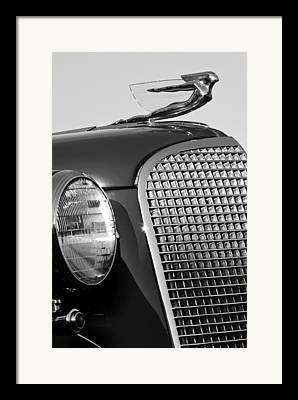1937 Cadillac V8 Framed Prints
